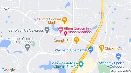 Hilton Garden Inn Jackson/Madison Map