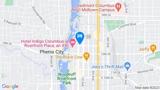 Hotel Indigo Columbus at Riverfront Place, an IHG Hotel Map