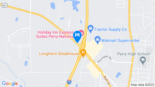 Holiday Inn Express Perry-National Fairground Area Map