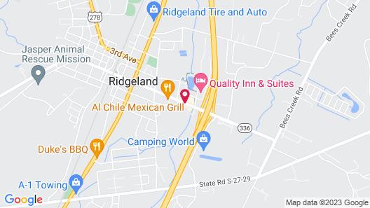 Days Inn by Wyndham Ridgeland South Carolina Map