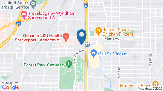 Sleep Inn & Suites Medical Center Map