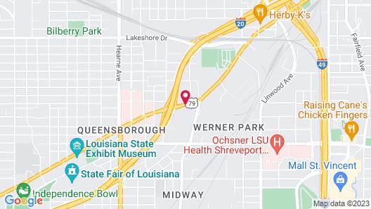 Travelodge by Wyndham Shreveport LA Map