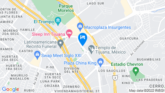 Extended Suites Tijuana Macroplaza Map