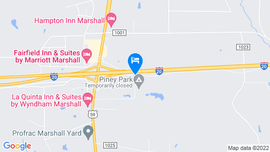 Holiday Inn Express & Suites Marshall, an IHG Hotel Map