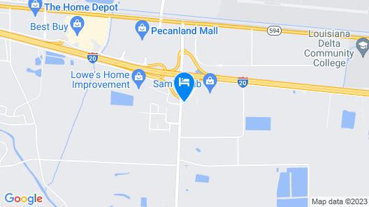 Hampton Inn & Suites Monroe Map