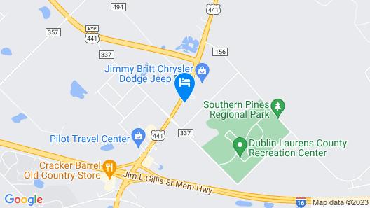 Motel 6 Dublin, GA Map