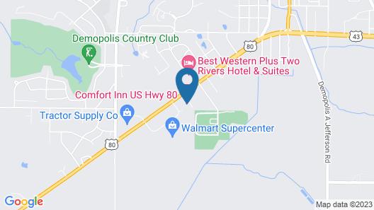 Comfort Inn US Hwy 80 Map