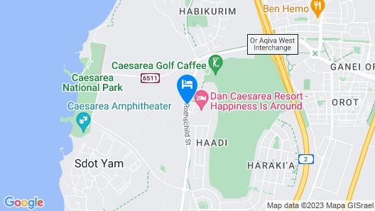 Dan  Caesarea Resort Map