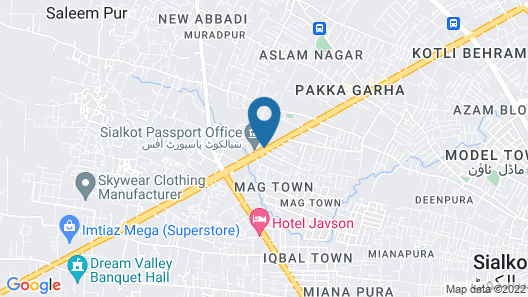 Hotel The Jeevens Map