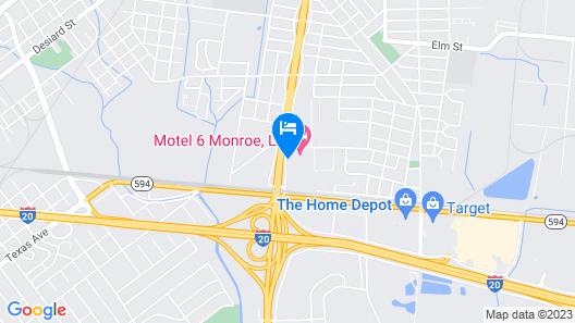 Motel 6 Monroe, LA Map