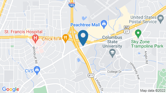 Super 8 by Wyndham Columbus Airport Map