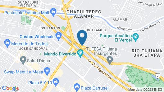 Hotel Astor Tijuana Map