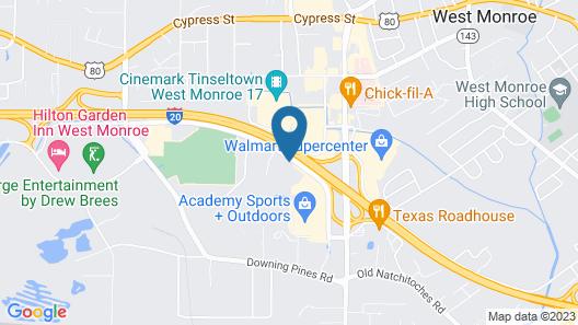 Motel 6 West Monroe, LA Map