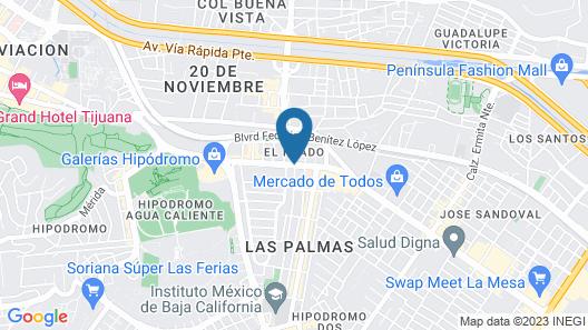 Hotel La Mesa Map