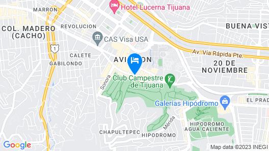 Grand Hotel Tijuana Map