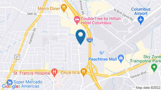 Extended Stay America Suites Columbus Airport Map