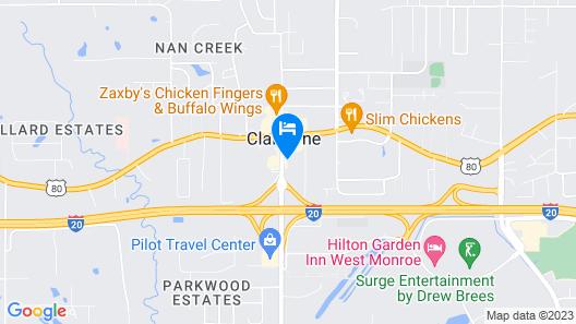 Comfort Suites West Monroe Map