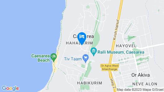 Villa de Caesarea Map