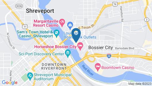 Courtyard by Marriott Shreveport-Bossier/Louisiana Boardwalk Map