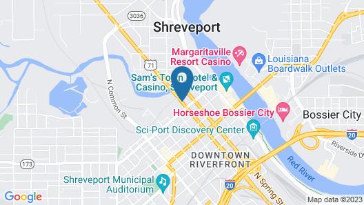 Hilton Shreveport Map
