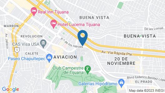 Holiday Inn Tijuana Zona Rio Map
