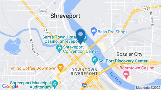 Sam's Town Hotel and Casino (Shreveport) Map