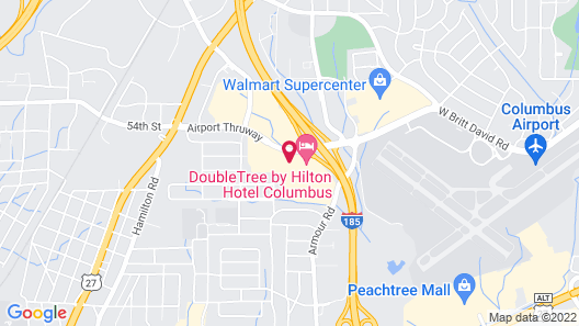 DoubleTree by Hilton Columbus Map