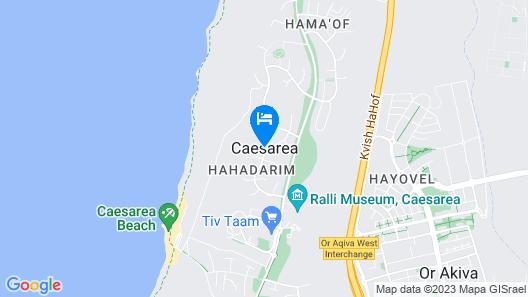 Villa Iman - Caesarea Map