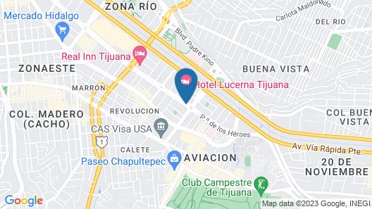 Hotel Lucerna Tijuana Map