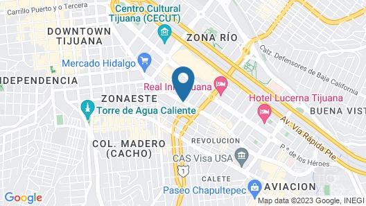 City Suites Tijuana Río Map