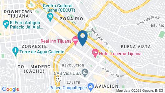 City Express Tijuana Río Map