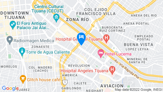 Real Inn Tijuana by Camino Real Hotels Map
