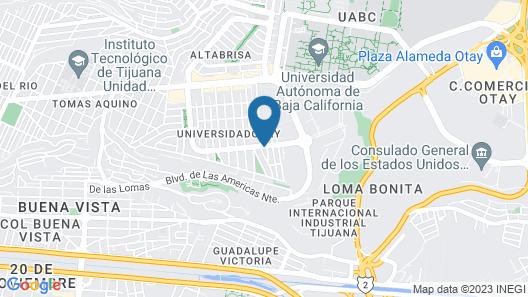 Hampton Inn by Hilton Tijuana Map