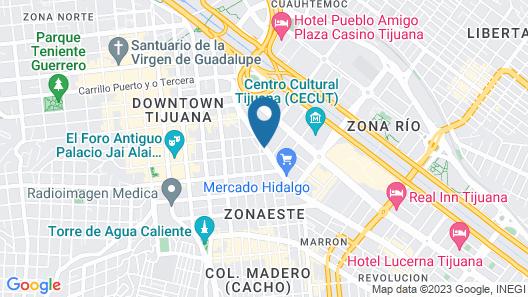 Ibis Tijuana Zona Rio Map