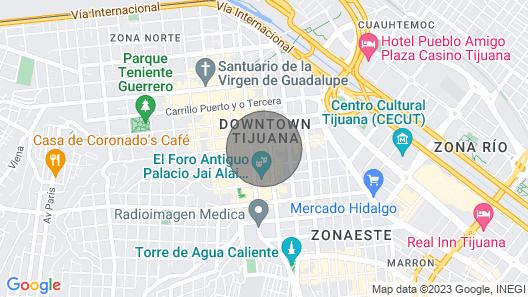 Mini Apartment #2 IN BAR Distric Downtown TJ Map