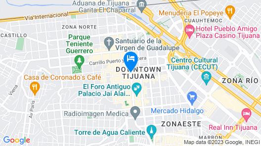 Hotel Caesar's Map