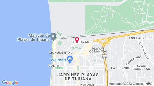 Del Mar Inn Playas de Tijuana Map