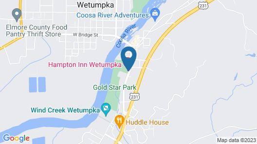 Hampton Inn Wetumpka, AL Map
