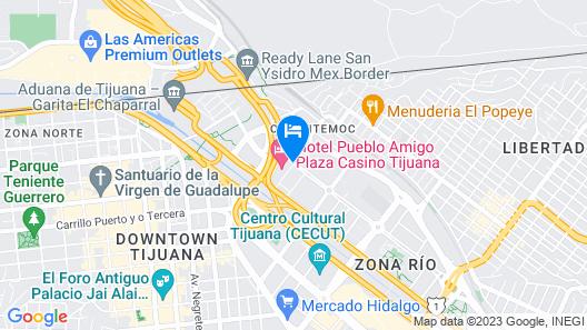 Hotel Pueblo Amigo Plaza & Casino Map