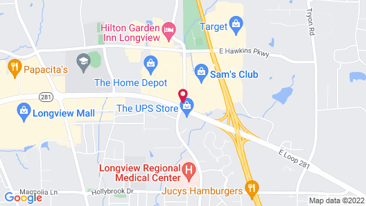 Comfort Suites Longview North Map