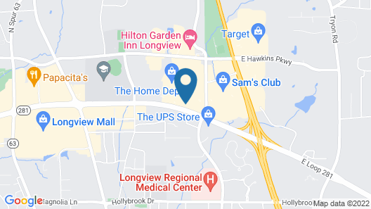 Holiday Inn Express And Suites Longview North, an IHG Hotel Map