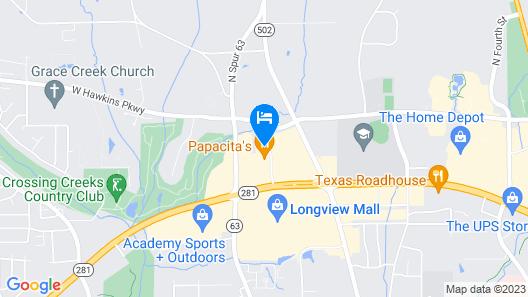 Holiday Inn Longview - North, an IHG Hotel Map