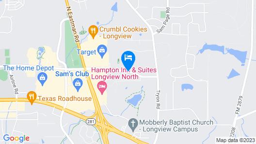 Hilton Garden Inn Longview Map