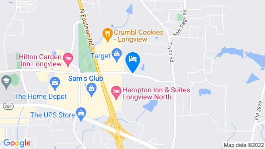 Courtyard by Marriott Longview North Map