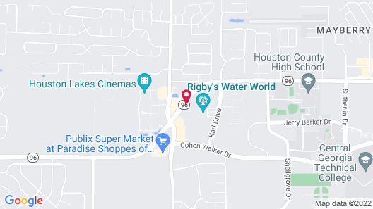 Best Western Plus Executive Residency Rigby's Water World Hotel Map