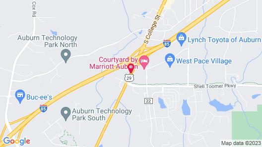 Hampton Inn Auburn Map