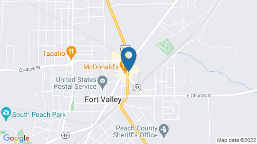Days Inn & Suites by Wyndham Fort Valley Map