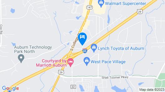 Sleep Inn & Suites Auburn Campus Area I-85 Map