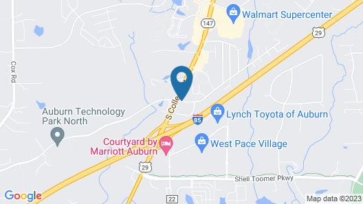 Quality Inn Auburn Campus Area I-85 Map