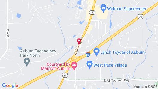 Microtel Inn & Suites by Wyndham Auburn Map
